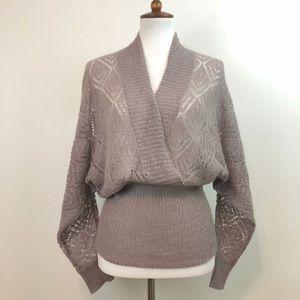 LOFT Sweaters - LOFT Mushroom Wrap Sweater